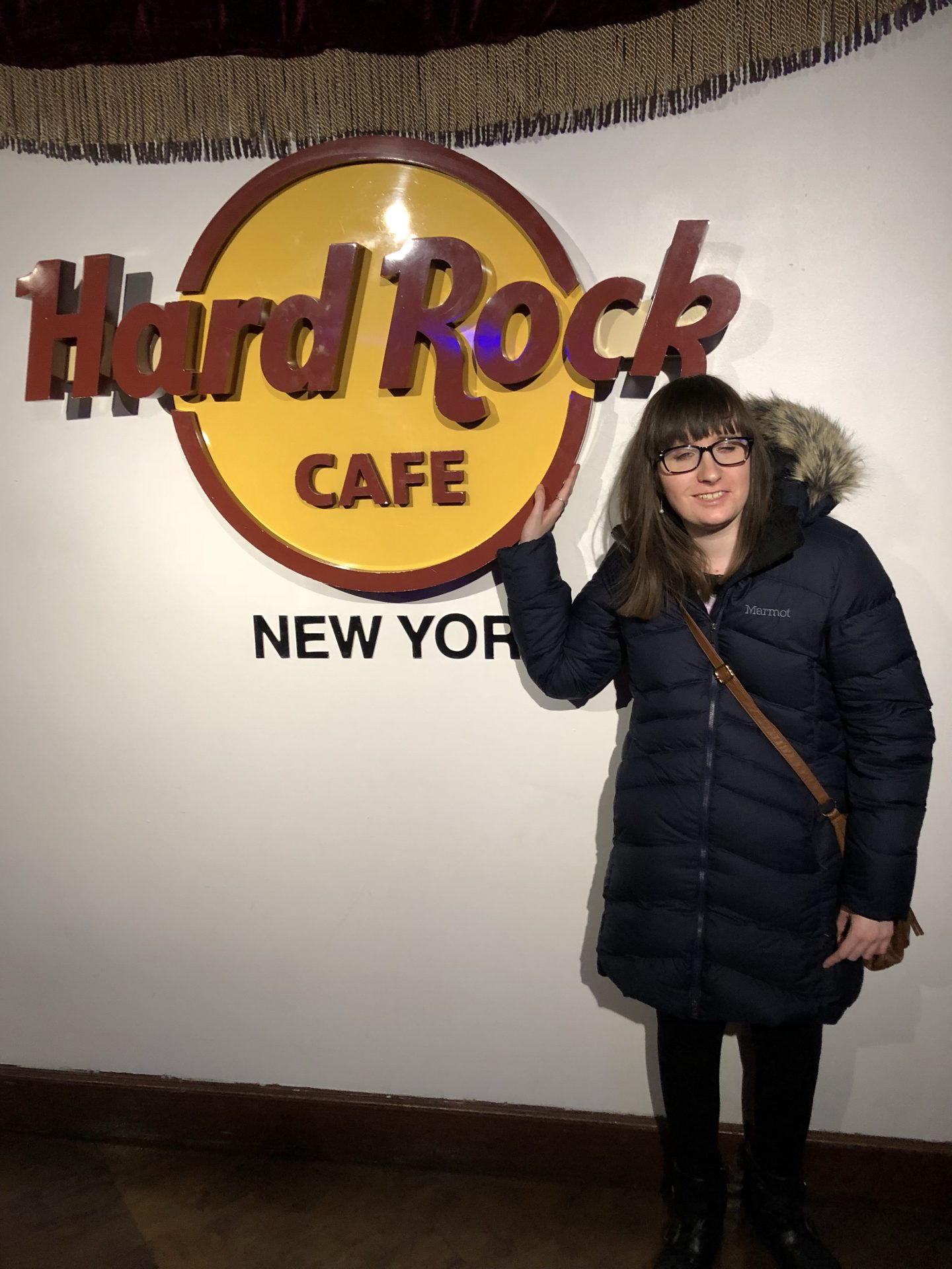 A photo of Holly in the Hard Rock Cafe