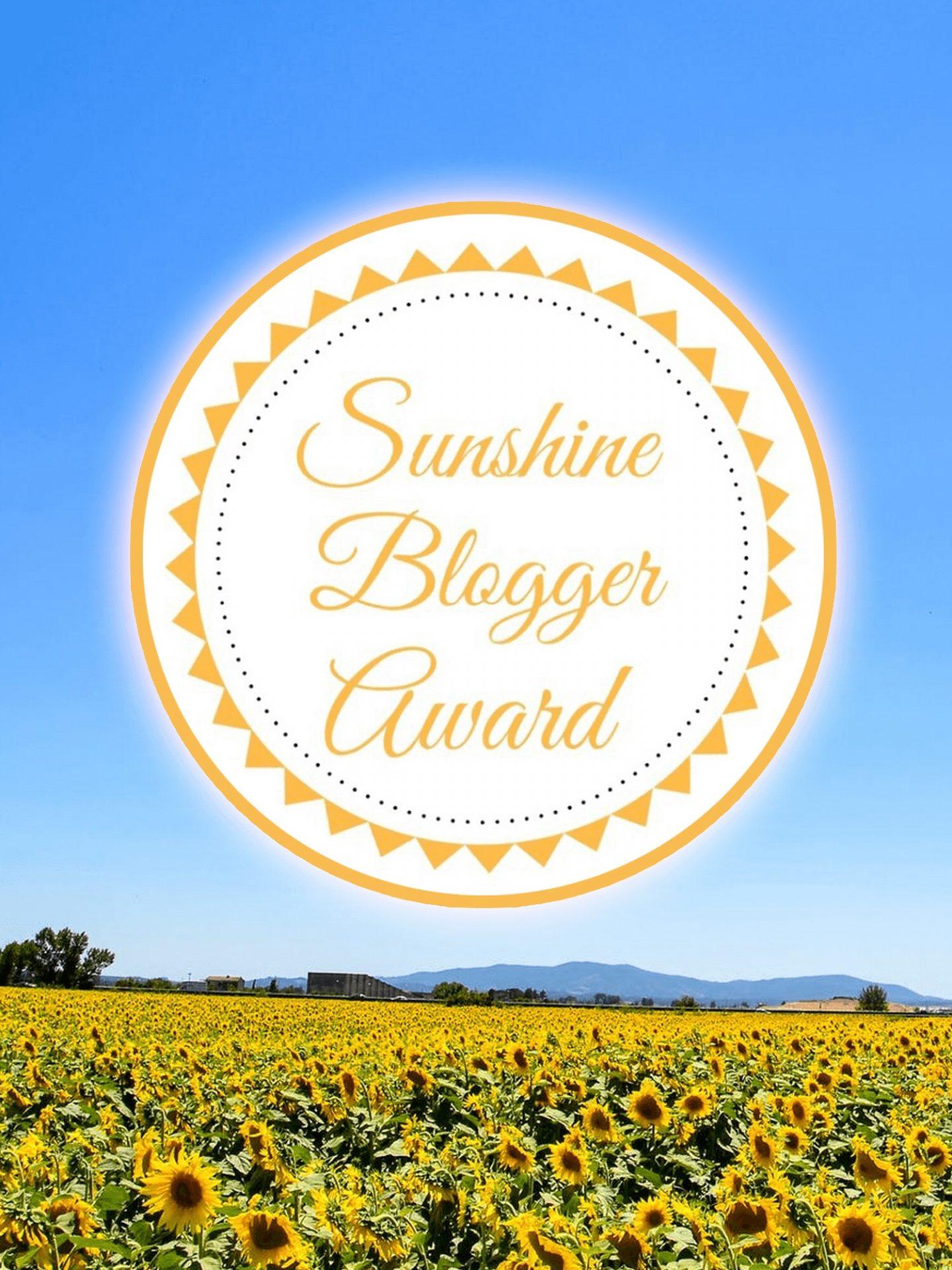 A photo of the sunshine blogger award logo