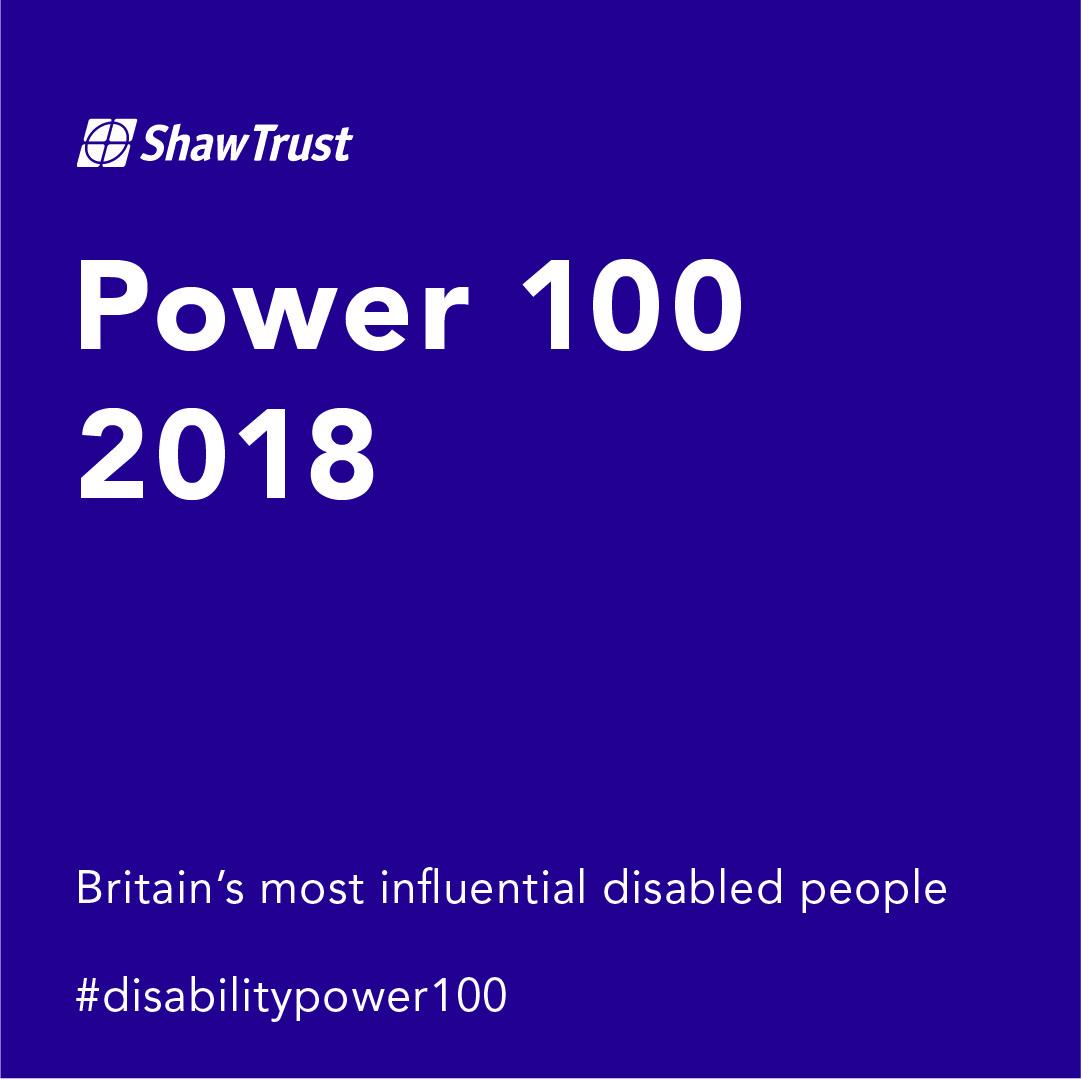 Shaw Trust 2018 Disability Power 100 list logo