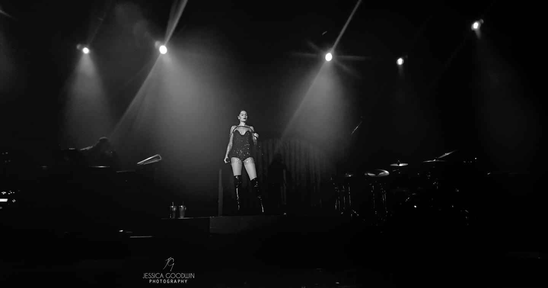 Jessie J on stage at Manchester Academy